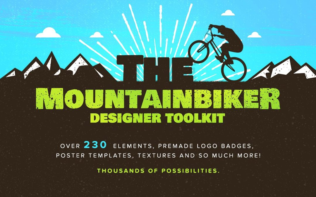The Mountainbiker – Designer Logo Kit