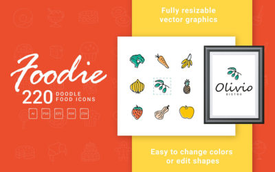 Foodie – Food Hand Drawn Icons