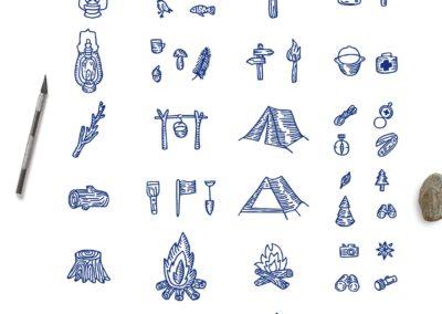 Hand Drawn Mountain Kit Mountain Shapes