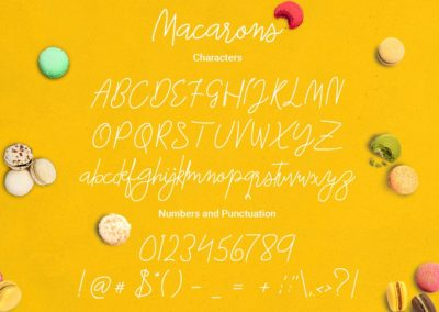 Macarons - Font and Extras Cursive Font Script Font