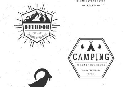Mountain Outdoor Vintage Logo Kit Mountain Bundle