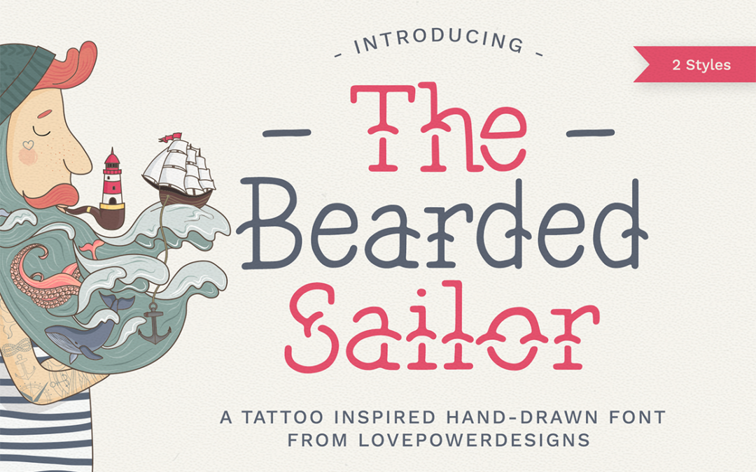 The Bearded Sailor – Tattoo Font