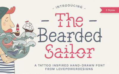 The Bearded Sailor – Tattoo Font