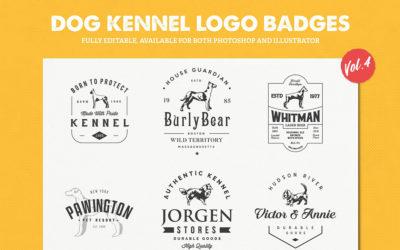 Dog Kennel Logo Badges Vol.4