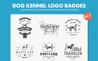 Dog Kennel Logo Badges Vol.2