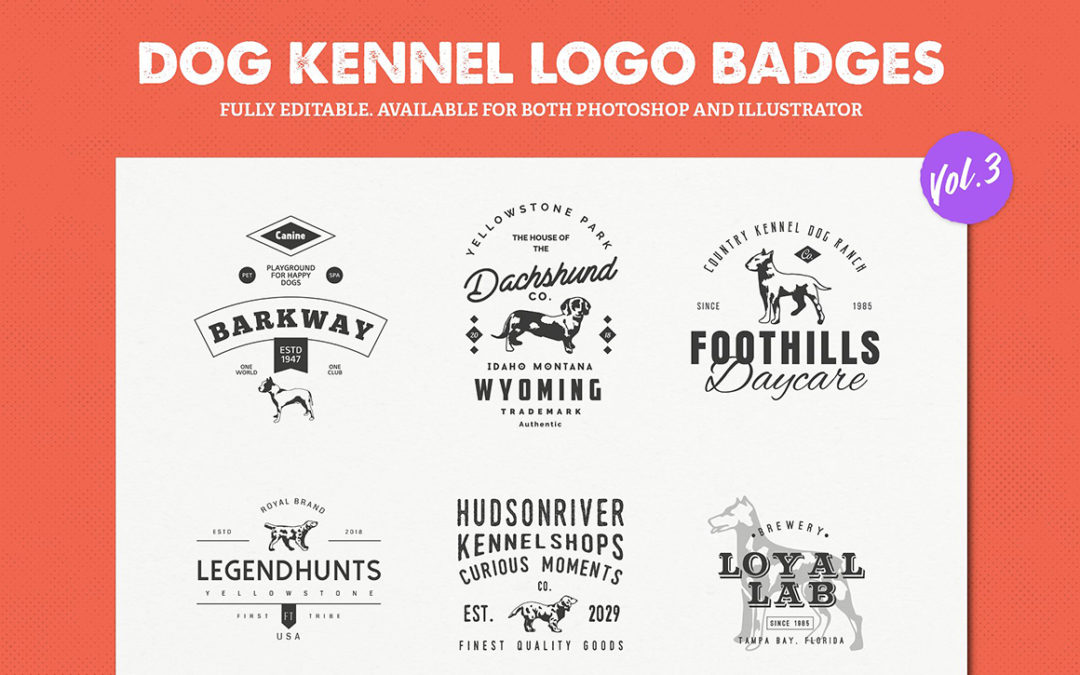 Dog Kennel Logo Badges Vol.3