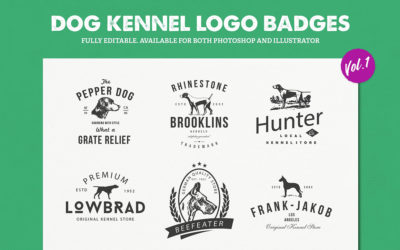 Dog Kennel Logo Badges