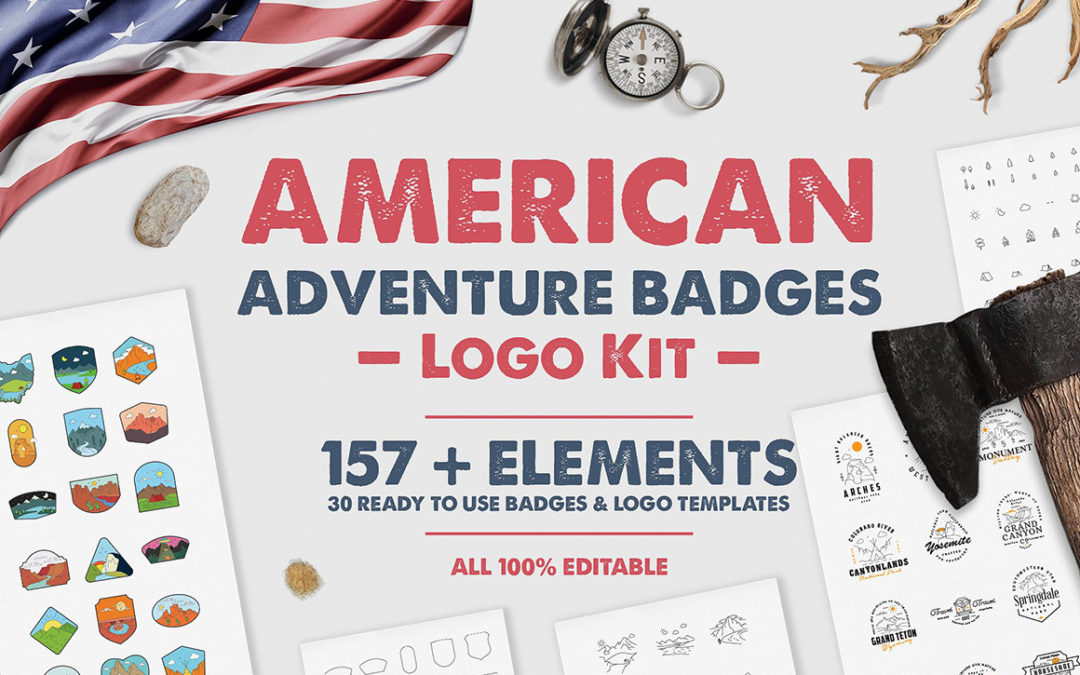 American Adventure Badges Logo Kit