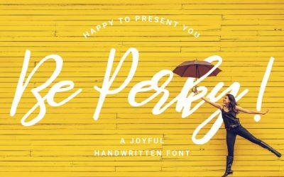 Be Perky! Handwritten Font