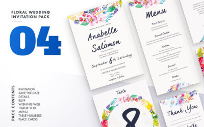Floral Wedding Invitation Set Vol.4