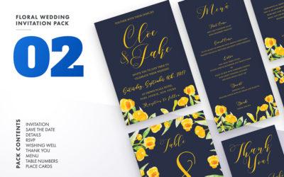 Floral Wedding Invitation Set Vol.2