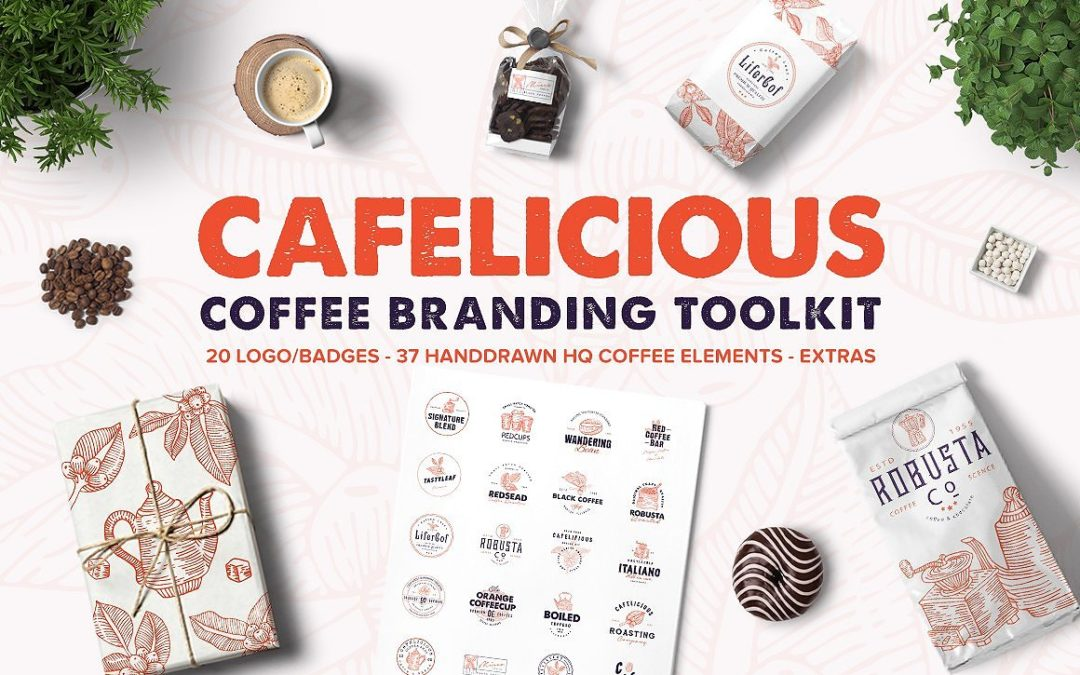 Cafelicious – Coffee Logo Kit