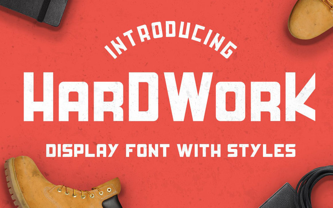 HardWork – Display Font With Styles