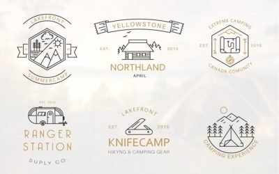 Iconic Camping Logo Badges