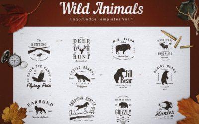 Wild Animals Logo/Badge Templates v1