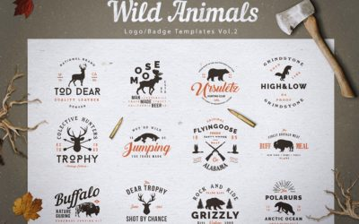 Wild Animals Logo/Badge Templates v2