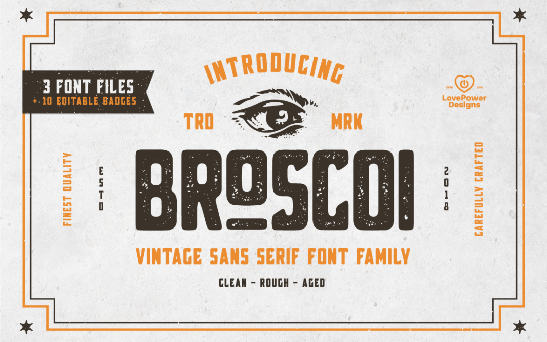 Broscoi – Vintage Font Family