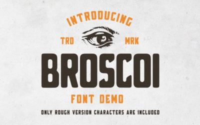 Broscoi – Free Vintage Font Demo