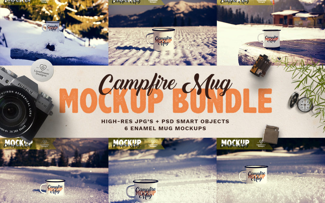 Enamel Mug Mock-up Bundle