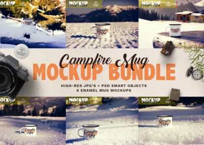 Tin Mug Mockup Bundle