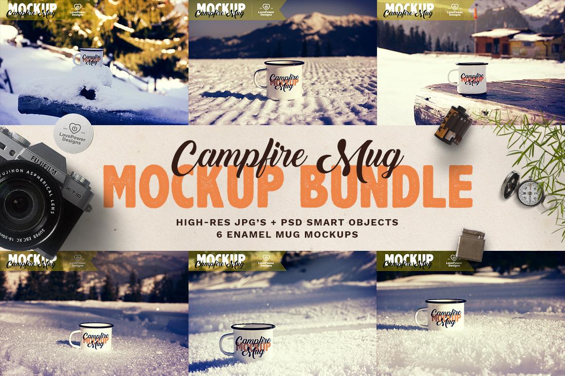 Tin Mug Mockup Bundle