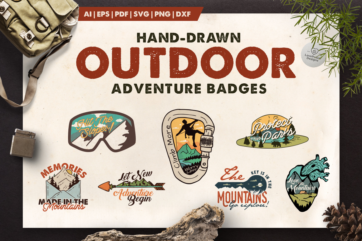 Mountain Adventure Logo Kit