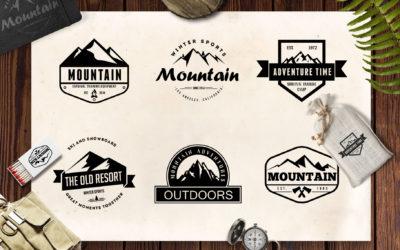 Mountain Vintage Badges