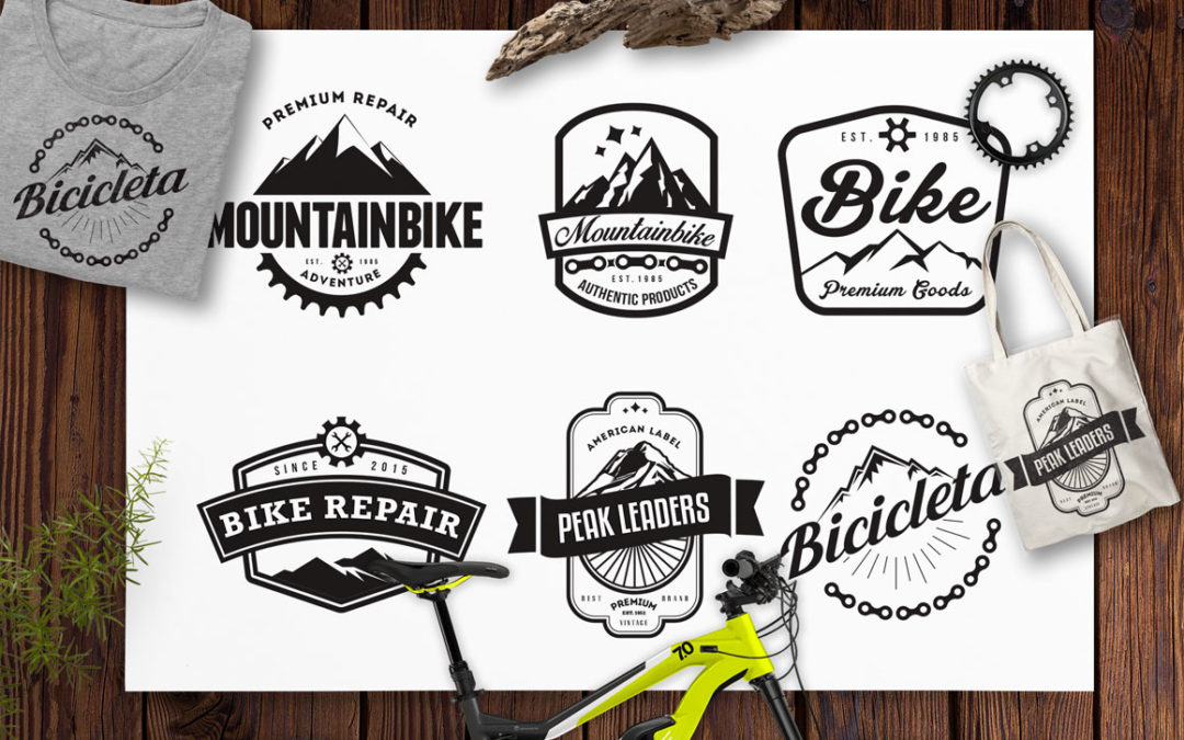 Mountain Bike Retro Badges