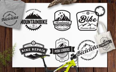 Mountain Bike Retro Badges