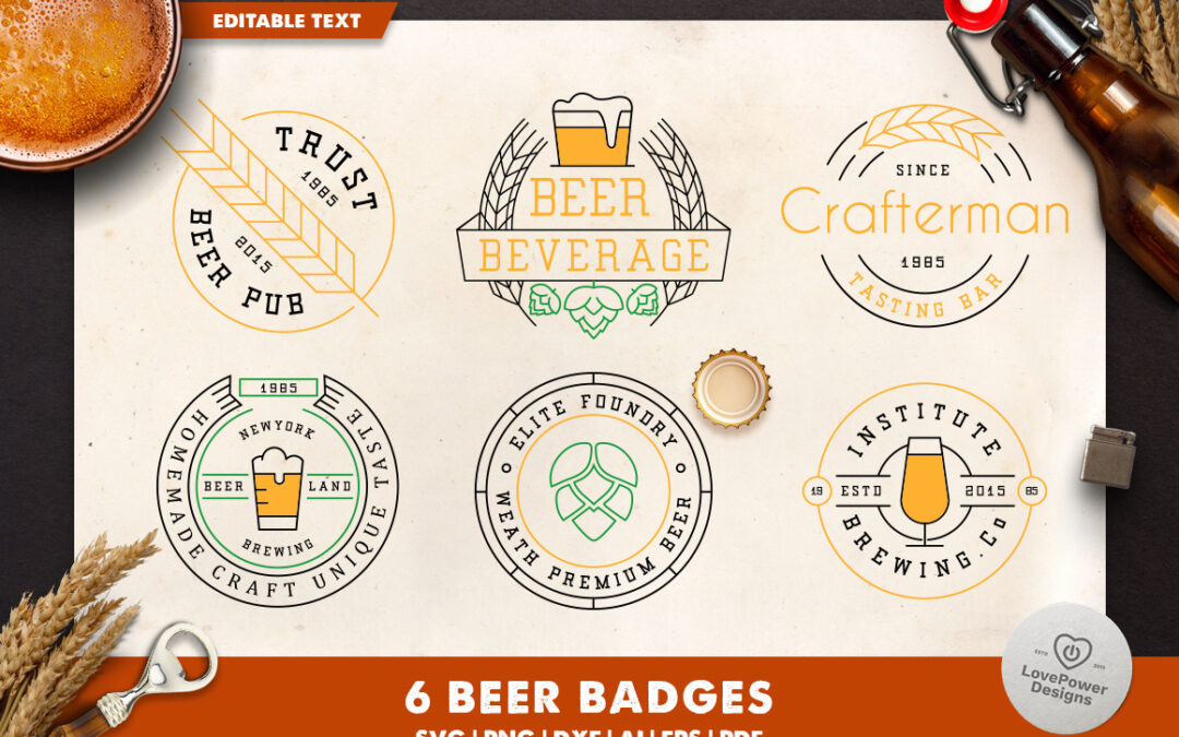 Beer | Beer SVG | Beer Badges | Beer Logo Template