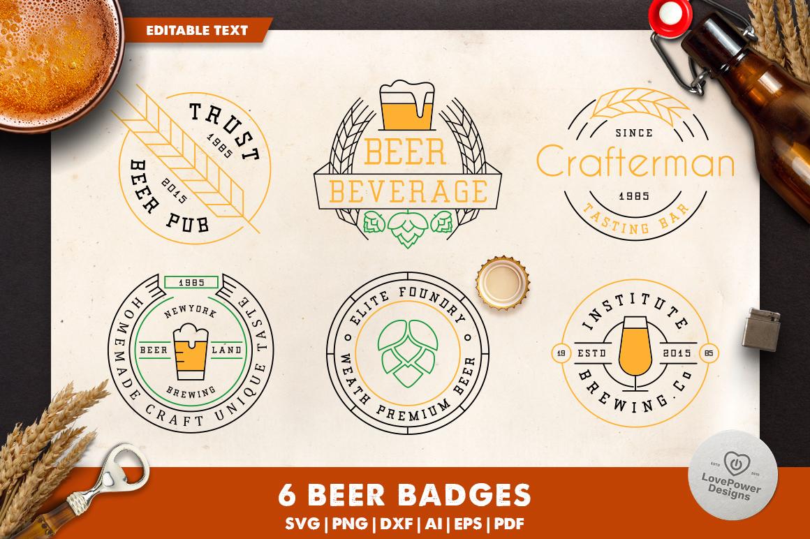 Beer Beer Svg Beer Badges Beer Logo Template