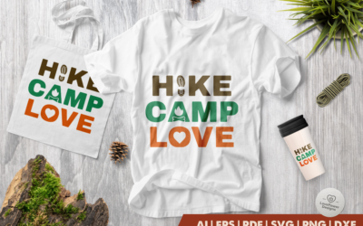 Camping SVG | Hiking SVG | Hike Camp Love SVG | Camp SVG