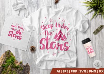 Camping SVG | Sleep Under the Stars SVG | Camp SVG