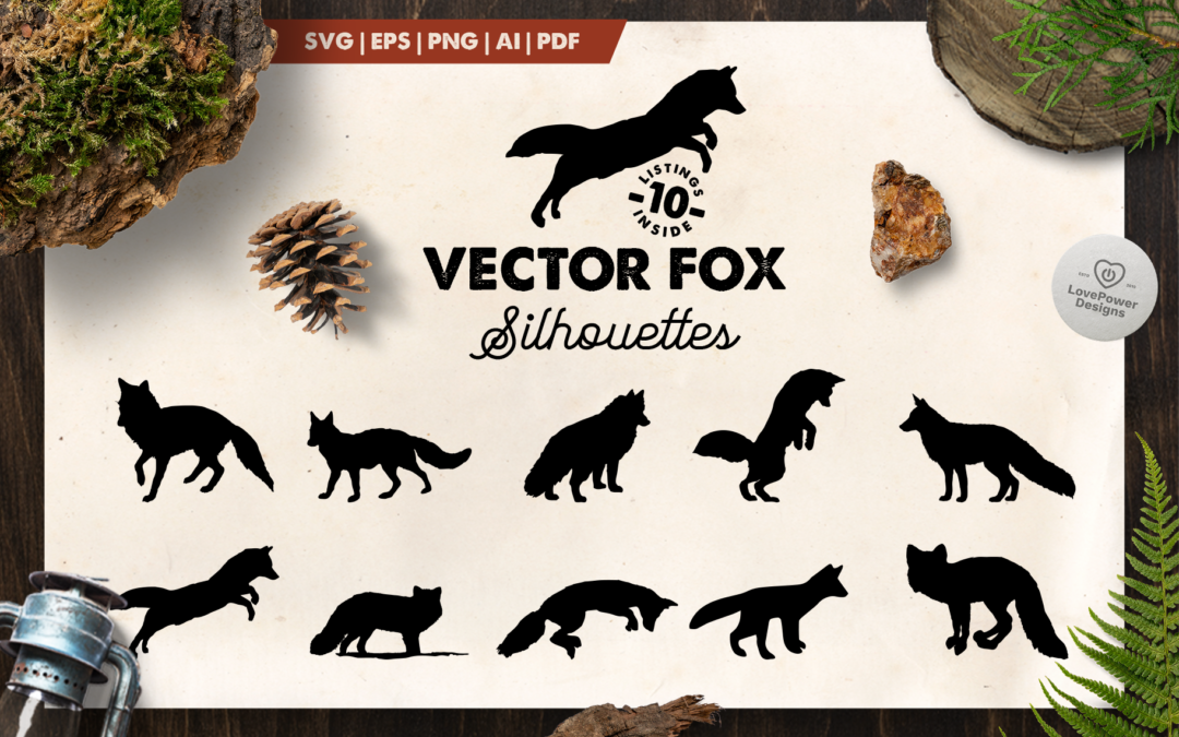 Fox Silhouette | 10 Vector Fox Silhouettes | Fox SVG