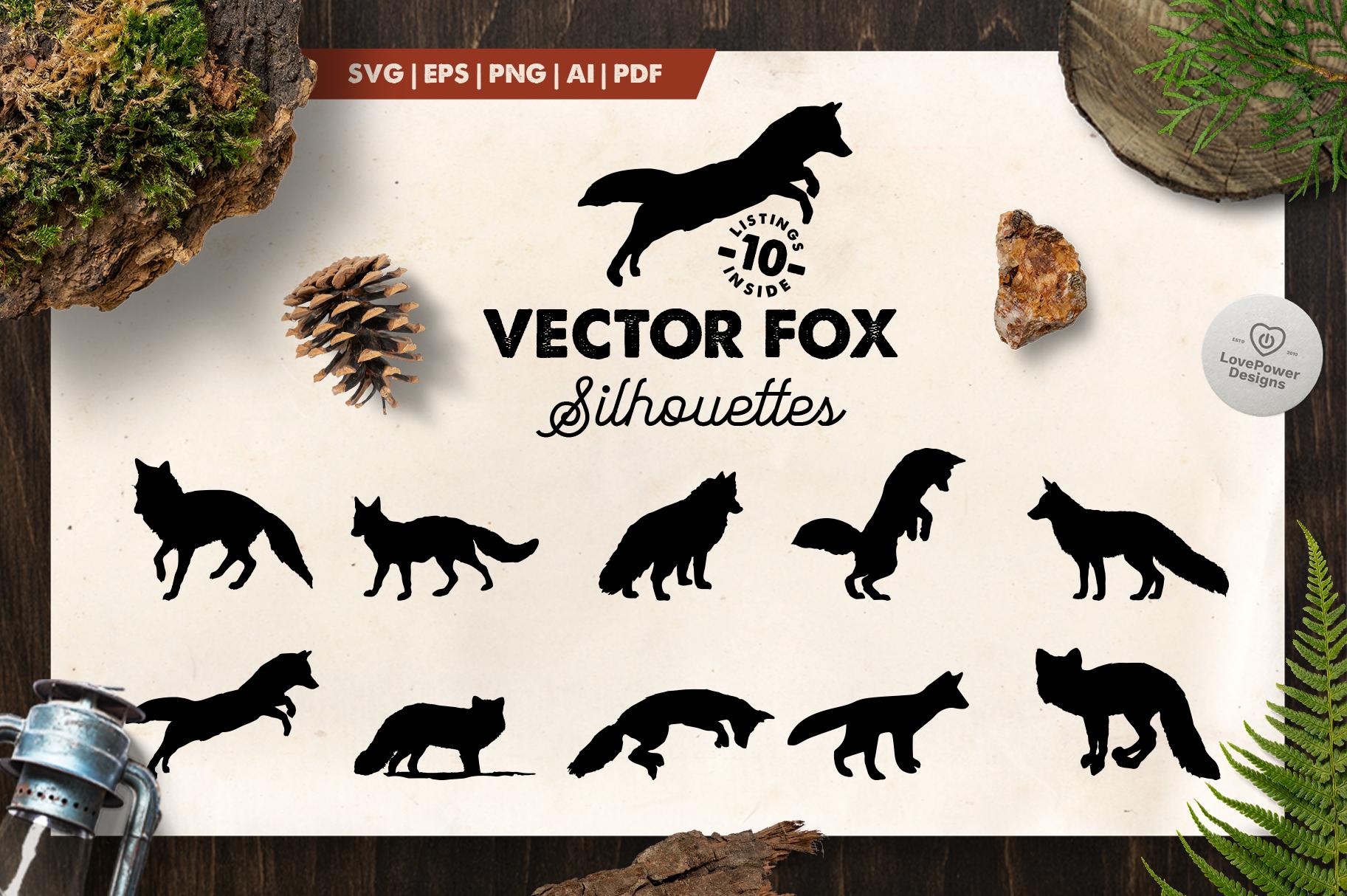 Fox Silhouette | 10 Vector Fox Silhouettes | Fox SVG