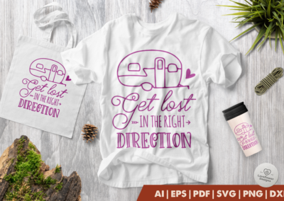Camping SVG | Get Lost in The Right Direction SVG