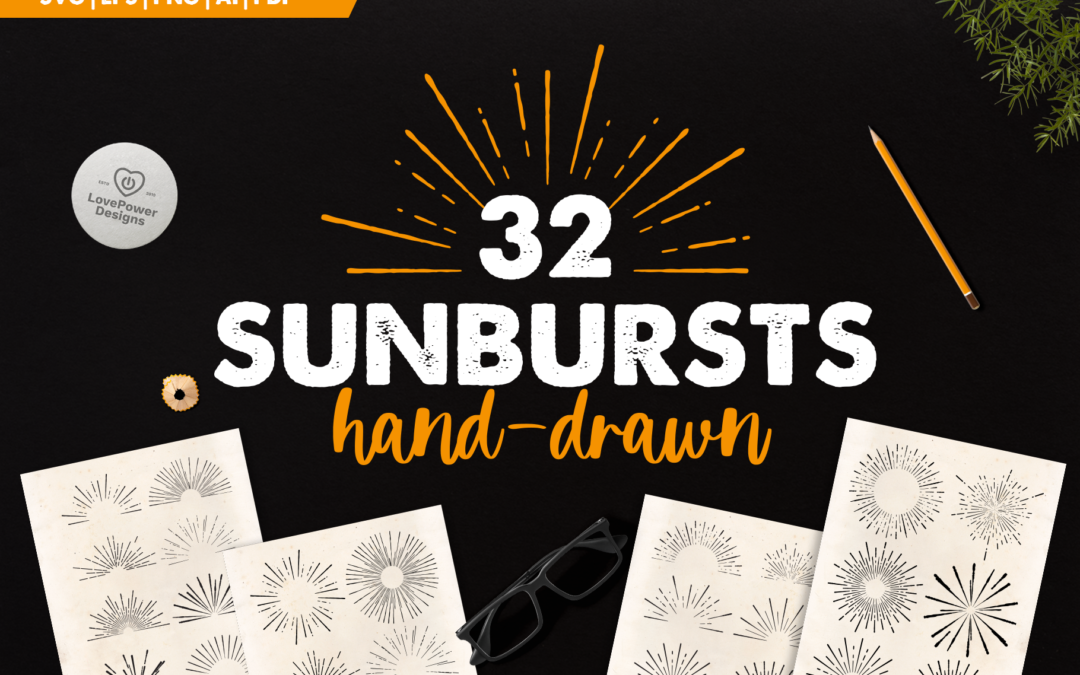 Sunburst Bundle | 32 Sunbursts SVG | Retro Sunbursts