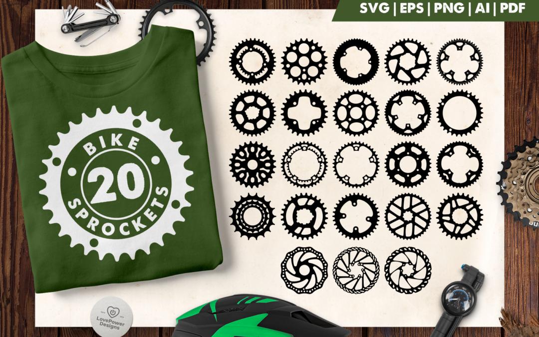 Bike Sprocket SVG   Bike Crank SVG   Bike Gear SVG   Gear