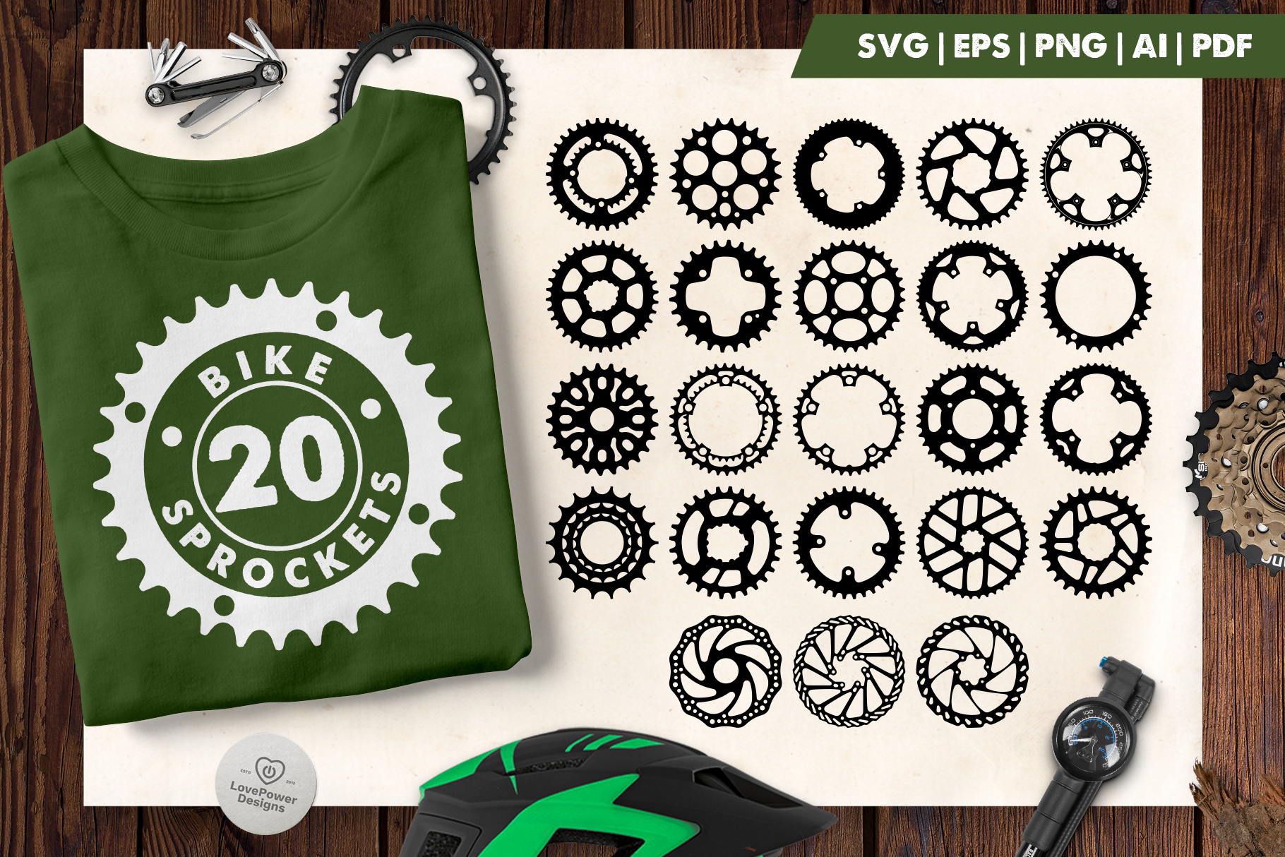 Bike Sprocket SVG | Bike Crank SVG | Bike Gear SVG | Gear