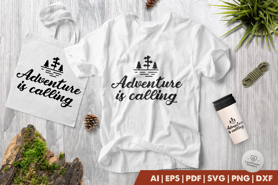 Adventure SVG | Camping SVG | Adventure is Calling SVG