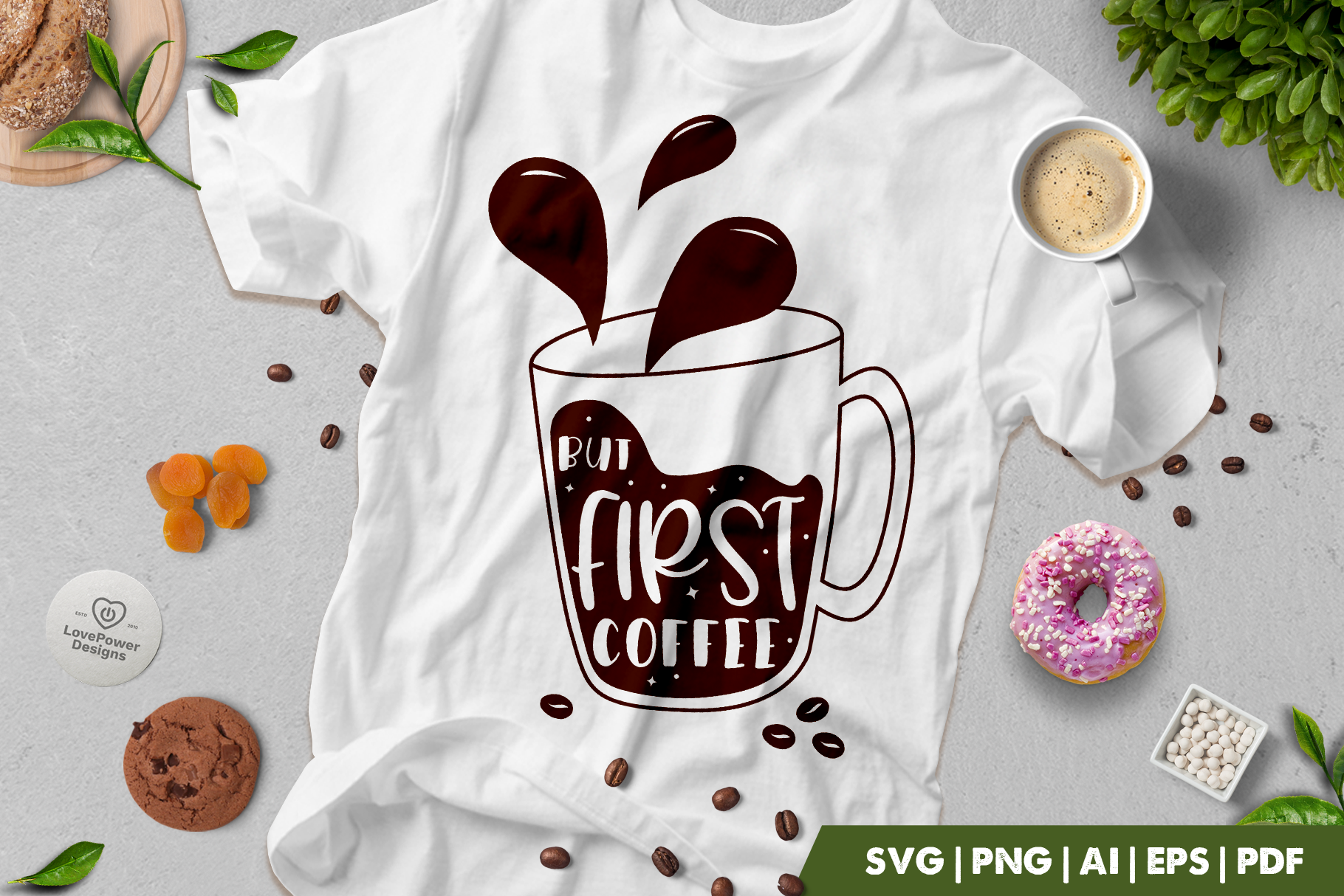 Coffee SVG | But First Coffee SVG | Coffee Quotes SVG