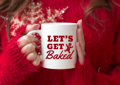 Christmas SVG | Let's Get Baked | Christmas Funny Quote SVG
