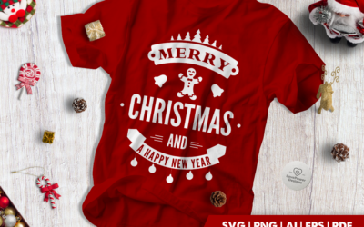 Christmas SVG | Merry Christmas And a Happy New Year