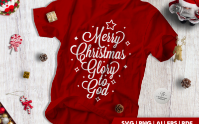 Christmas SVG | Merry Christmas Glory to God SVG