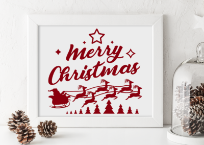 Christmas SVG | Merry Christmas | Santa with Reindeer