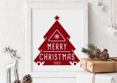 Christmas SVG | Merry Christmas 2020 | Christmas Tree