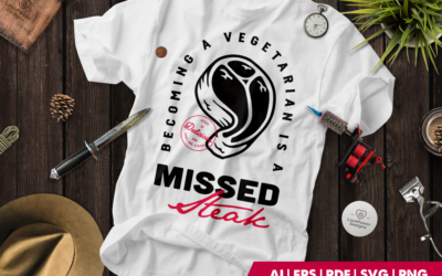 Tattoo T-shirt | Tattoo svg | T-bone | Steak Quote