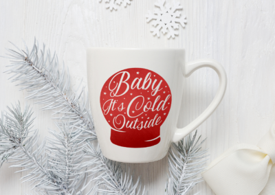 Christmas SVG | Baby It's Cold Outside | Christmas Globe SVG