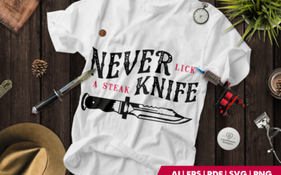 Tattoo SVG | Halloween SVG | Tattoo T-shirt | Knife Quote