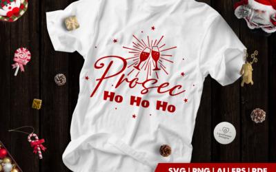 Christmas SVG | Prosec Ho Ho Ho SVG | Prosecco Glasses